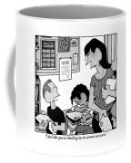 Boy Says To Teacher Who Has Given The Boy A D Coffee Mug