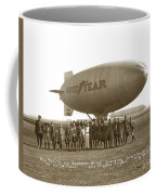 Boy Scouts And Goodyear Blimp Guarding Graf Zeppelin Los Angeles Airport Aug. 26 1929 Coffee Mug