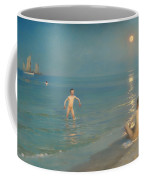 Boys Bathing At Skagen Coffee Mug