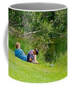 Boys Fishing In Pipestone National Monument-minnesota Coffee Mug