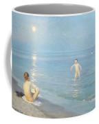Boys On The Seashore In A Summer Night At Skagen 1899  Coffee Mug by Peder Severin Kroyer