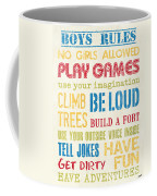 Boys Rules Coffee Mug