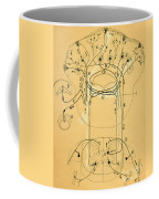 Brain Vestibular Sensor Connections By Cajal 1899 Coffee Mug