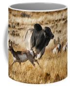 Brahma Bull Meets The Pronghorn Coffee Mug