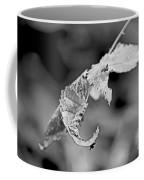 Bramble Leaves - Black And White Coffee Mug