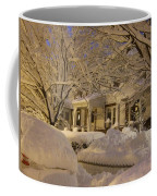 Branches And Snow Mounds Coffee Mug