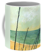 Branches On The Beach - Oil Coffee Mug by Michelle Calkins