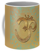 Gold Brass Om Mandala Coffee Mug