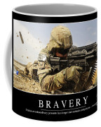 Bravery Inspirational Quote Coffee Mug by Stocktrek Images