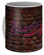 Braves Baseball Graffiti On Brick  Coffee Mug