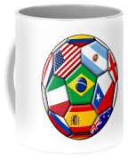 Brazil 2014 - Soccer With Various Flags Coffee Mug