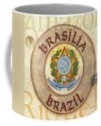 Brazil Coat Of Arms Coffee Mug by Debbie DeWitt