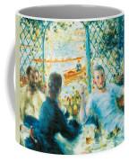 Breakfast By The River Coffee Mug by Pierre-Auguste Renoir