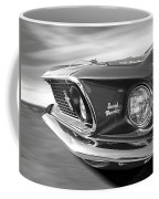 Breaking The Sound Barrier - Mach 1 428 Cobra Jet Mustang In Black And White Coffee Mug