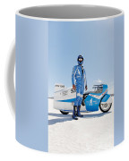 Brett De Stoop And His Suzuki Gt 750 Coffee Mug