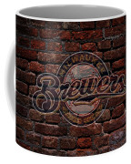 Brewers Baseball Graffiti On Brick  Coffee Mug