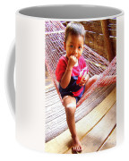 Bribri Indian Child In A Hammock Coffee Mug