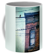 Brick Building Birds On Wires Coffee Mug