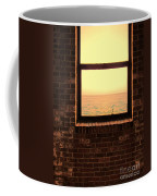 Brick Window Sea View Coffee Mug