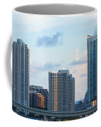 Brickell Key And Miami Skyline Coffee Mug
