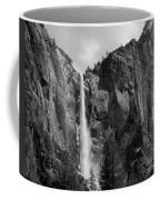 Bridalveil Falls In B And W Coffee Mug by Bill Gallagher