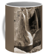 Bridalveil Falls In Yosemite Sepia Version Coffee Mug