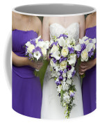 Bride And Bridesmaids With Wedding Bouquets Coffee Mug