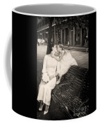 Bride And Daughter Kiss In Jackson Square New Orleans Coffee Mug