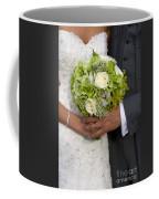 Bride And Groom With Wedding Bouquet Coffee Mug