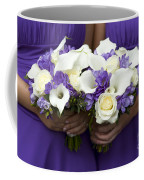 Bridesmaids With Wedding Bouquets Coffee Mug