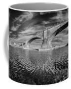 Bridge Curvature In Black And White Coffee Mug