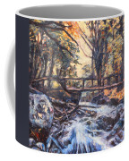 Morning Bridge In Woods Coffee Mug