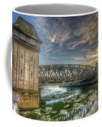 Bridge Over Icey Waters Coffee Mug