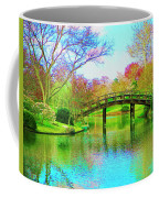 Bridge Over Lake In Spring Coffee Mug