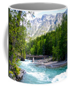 Bridge Over Mcdonald Creek In Glacier Np-mt Coffee Mug
