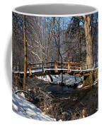 Bridge Over Snowy Valley Creek Coffee Mug