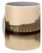 Bridge Reflection In Sepia Coffee Mug