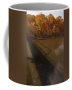 Bridge Shadow In Autumn On The  Duck River Tennessee Fine Art Prints As Gift For The Holidays  Coffee Mug