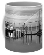Bridge To Mount Pleasant - Black And White Coffee Mug