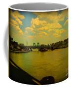Bridge With Puffy Clouds Coffee Mug