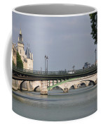 Bridges Over The Seine And Conciergerie - Paris Coffee Mug