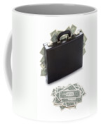 Briefcase Stuffed With Dollar Bills Coffee Mug