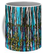 Bright Blue And Birch Coffee Mug