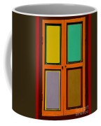 Bright Colorful Window Shutters With Four Panels Coffee Mug
