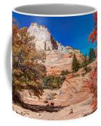 Bright Fall Colors At Zion Coffee Mug