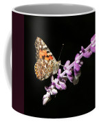 Painted Lady Butterfly On Purple Flower Coffee Mug