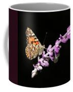 Painted Lady Butterfly On Purple Flower Coffee Mug