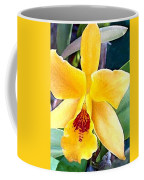 Bright Yellow And Red Cattleya Orchid Coffee Mug