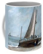 Brighton Beach With Fishing Boats Coffee Mug