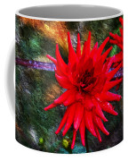 Brilliance In An Autumn Garden - Red Dahlia Coffee Mug